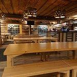 The cozy log restaurant