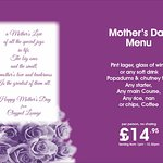 treat mum to something truly special... at a special restaurant this mothers day