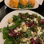 Salad boy and a vegan appetizer