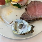 Worm in oyster