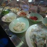 fruit de mer et viande a cuire sur place