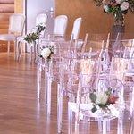 Les cérémonie de mariage, 3 samedis par mois, l'officier d'état civil se déplace au Château Maison Blanche