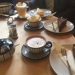Ein Überblick über unsere Runde - Donauwellen, Marine-Schmand-Kuchen, Kartoffelsuppe, Heiße Scho