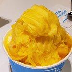 Mango Shaved Iced with real mango chunks