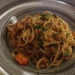 Spaghetti with Maltese sausage