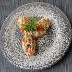 Оливье с лососем (Olivier Salad with salmon )