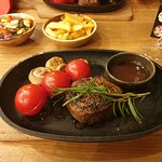 Nice steak - but less salt please!