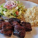 Steak tips .
