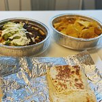 Quesadilla, Nachos and fries- Takeout