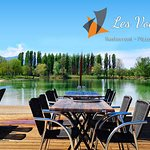 Terrasse du restaurant au bord du lac du Marandan
