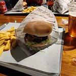 Helsinki Beer Factory God Father burger.