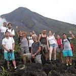 Combo La Fortuna Waterfall and Volcano Hike & Hotsprings