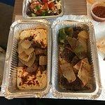 Hummus with lamb and koftas
