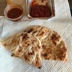 Ezme salad, chilli sauce and Turkish bread