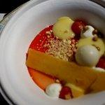 witte chocolade panna cotta-Bloedsinaasappel-tuile