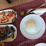 musslor och räkor