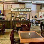 Interior of the Verde Brewing Company.