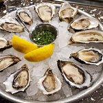 Fresh oysters on a half shell!