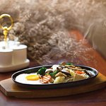 Chinese Noodle on hot plate