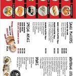 Yokohama sushi menu