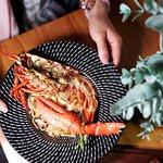 龍蝦蟹肉寬條麵