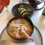 Ramen and vegetable gyozas - favorite combo!