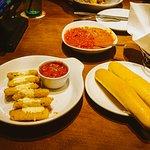 Fried Mozzarella, Breadsticks, and Five Cheese Marinara