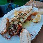 El calamar estaba delicioso