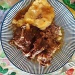 Rabo de buey sobre puré de patata