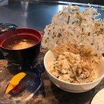 Garlic Fried Rice 蒜蓉炒飯. Miso-soup Pickles 味噌湯 + 漬物 組合