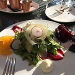 Interesting salad with beets and citrus