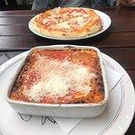 Bolognese Lasana and Prosciutto Parma Pizza.
