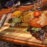 Exquista super hamburguesa