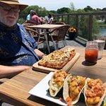 Big Daddy flatbread and fish tacos