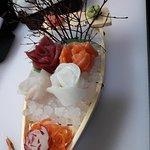 Sashimi con una deliciosa presentación.