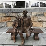 Lincoln statue outside at upper level
