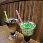 印尼咖啡涼粉冰+珍多冰