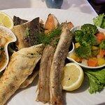 die reichliche Fischplatte
