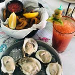 Oysters and fried calamari