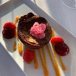 Nautiluksen suklaa fondant -jälkiruoka