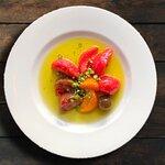The tastefully heirloom tomatoes