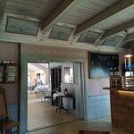 Interiör från restaurangen. Nybyggt i gammal stil.