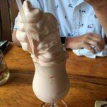Pink Squirrel ice cream drink....tasty!