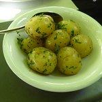 ... dazu gab's keine Pommes Frites - dafür gesunde Kartoffeln!