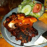 BBQ Ribs and Chicken and side salad