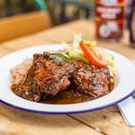 Stew Chicken - Cafe Caribbean Loughton, authentic Caribbean restaurant Loughton