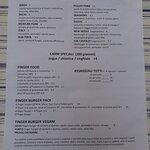 menu cibarie (le birre sono sul retro così andate a scoprirle!) :D