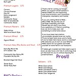 """This is the updated menu for the patio """"Hole in the Wall & Bier Garten"""" opens on Friday and Saturday nights."""