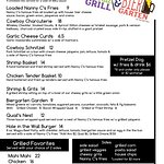 """This is the updated drink menu for the patio """"Hole in the Wall & Bier Garten"""" opens on Friday and Saturday nights."""