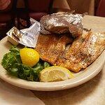 Fish and baked potato